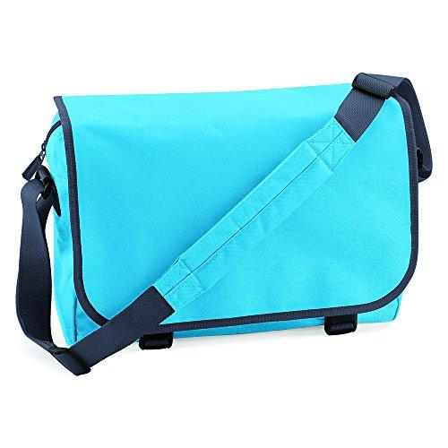 BagBase bolsa de mensajero azul - Surf Blue/ Graphite grey