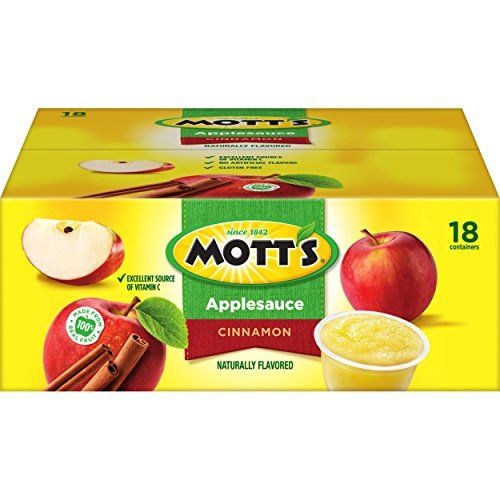 Mott's Cinnamon Applesauce, 4 Ounce Cup, 18 Count