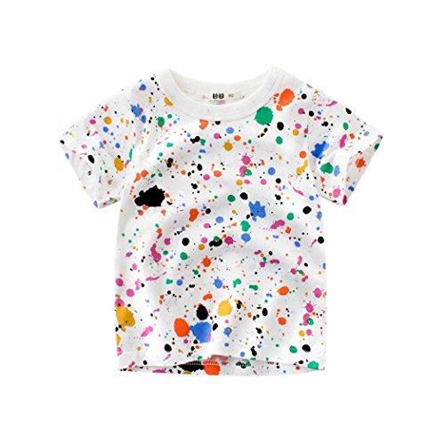 vermers Hot Sale Summer Infant Kids Clothes Baby Fashion T Shirts - Cartoon Print Outfits Tops(5T, Multicolor)