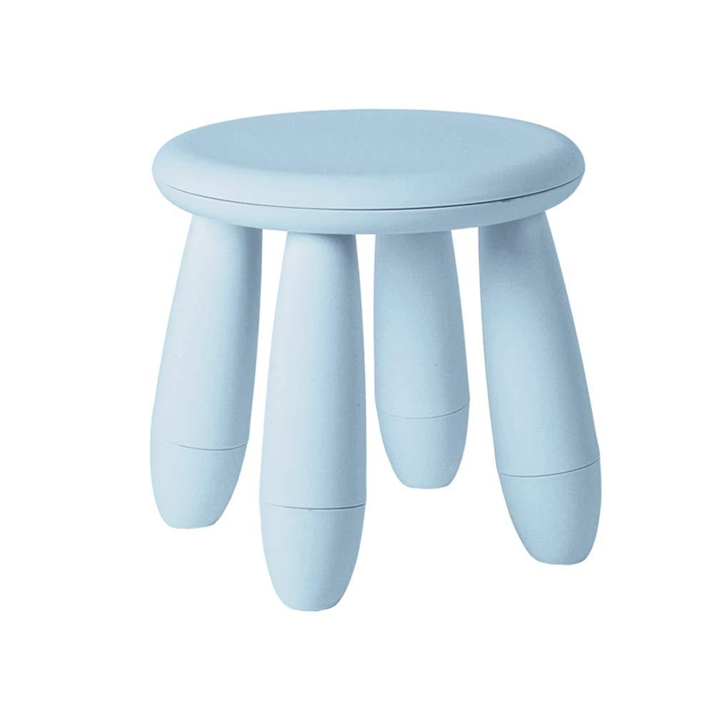 Light bluee ZHANGGUOHUAstools Footstool Step Stools Work Stool Plastic Living Room Bedroom Bathroom Multicolor Selection 30  30  30cm (color   bluee)