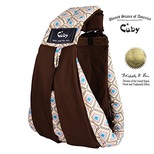 Vrbabies Cotton Baby Slings and Wraps Carrier for Newborns and Breastfeeding (Blue Triangle)