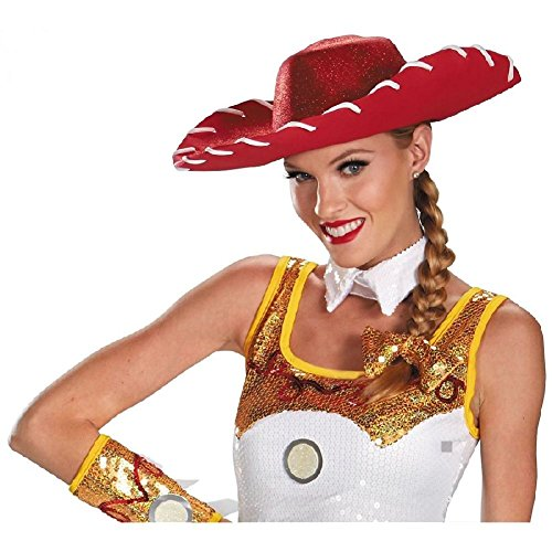 Jessie Glam Hat & Bow Set Costume Accessory Set Adult Toy Story Halloween