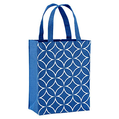 Illumen Fabric Gift Bags and Reusable Gift Bags, Free Greeting Cards, 2 Pack, Handmade, Eco Friendly Tote Bags, 11 Patterns, Medium Size (7.75 x 9.5 x 3.75 inches)
