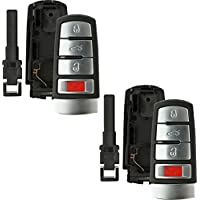 Discount Keyless Replacement Shell Case and Button Pad with Emergency Key Insert Compatible with HLO3C0959752N, NBG009066T (2 Pack)