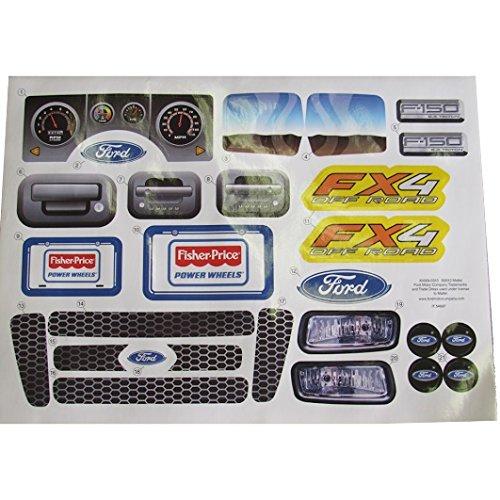 Power Wheels Ford F-150 Decal Sheet X0069-0310