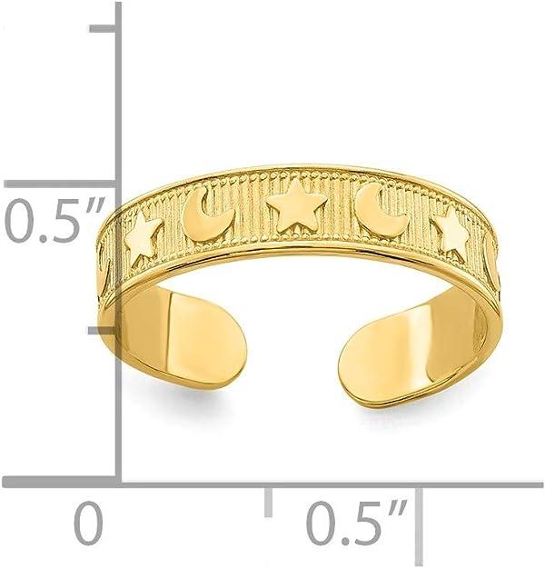Lex /& Lu 14k Yellow Gold Adjustable Seahorse Toe Ring