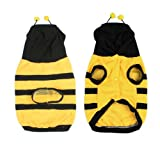 SODIAL(R) Dress up Costume Bumblebee Bee Doogie Dog Coat Clothes Pet Apparel M For Sale
