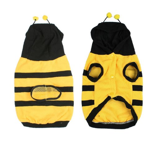 Costumes Dog Bumblebee (SODIAL(R) Dress up Costume Bumblebee Bee Doogie Dog Coat Clothes Pet Apparel)