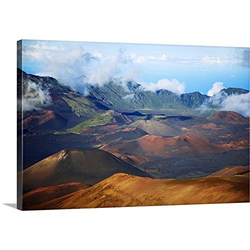 GREATBIGCANVAS Gallery-Wrapped Canvas Entitled Hawaii, Maui, Haleakala National Park, Haleakala Crater by Ron Dahlquist 24