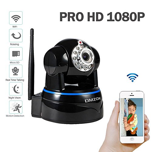 dmzok prohd 1080p wifi security camera video baby monitor nanny camera pan tilt zoom two. Black Bedroom Furniture Sets. Home Design Ideas