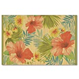 Hawaiian Style Bamboo Placemat Tropical Breeze Set Of 4