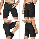 Lixada Men's Compression Shorts Pants Performance
