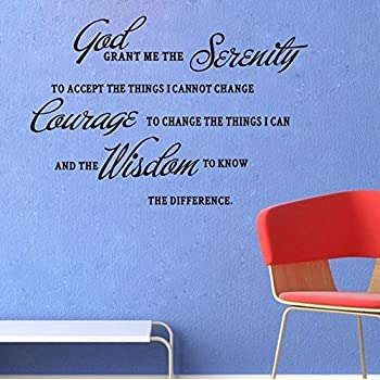 GOD GRANT ME THE SERENITY PRAYER BIBLE Art Quote Vinyl Wall Stickers Decal  Decor Part 89