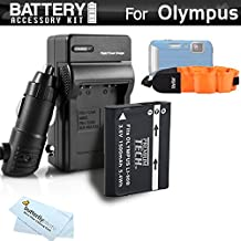 Battery And Charger Kit Bundle For Olympus TOUGH TG-5, TG-2 iHS, TG-3, TG-4 Waterproof Digital Camera Includes Extended Replacement (1500Mah) LI-90B, LI-92B Battery + Ac/Dc Charger + Float Strap +