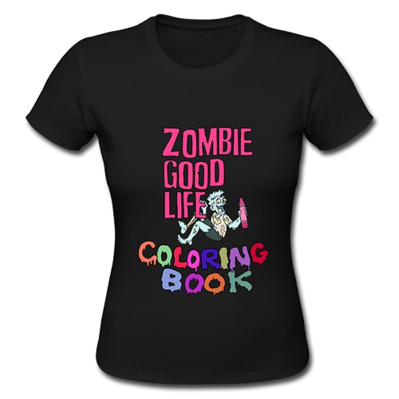 Zombie Good Life Custom Design Womens Cotton T Shirt Tee
