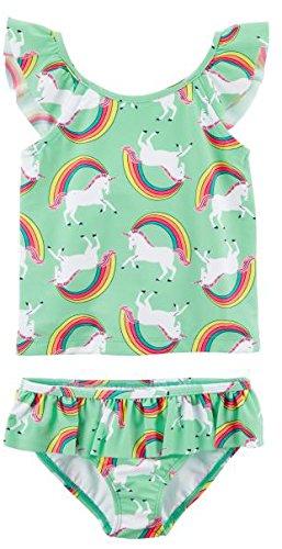 (Carter's Girls' Toddler Two-Piece Swimsuit, Unicorn Rainbow, 4T)