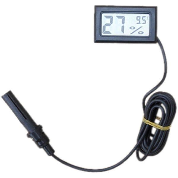Tongshi Mini termómetro higrómetro Temperatura Pantalla LCD ...