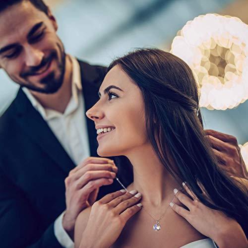 CRYSLOVE Collana Per Donna Argento Sterling 925 Fantastico Mondo Infinito Aurore Boreale Ciondolo Collana Crystal, Regali Romantico
