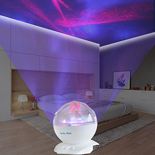 Aurora Borealis Night Light Projector With Music Player