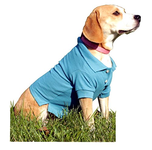 Iconikal Doggie Polo Shirts, Medium Size, Light Blue, 2-Pack]()