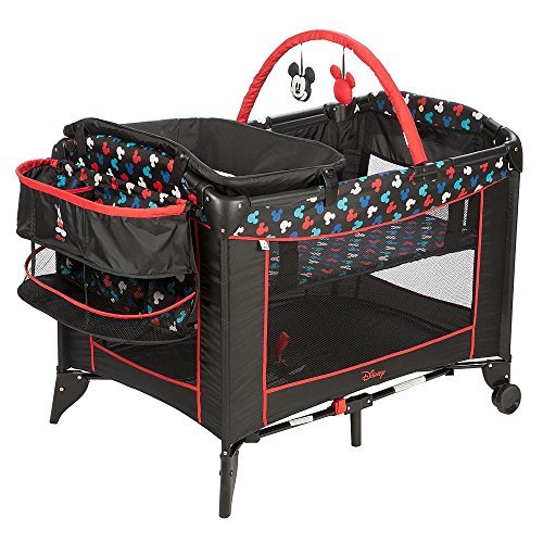 Disney Baby Mickey Mouse Silhouette Play Yard Pack N' Play Crib Bassinett -