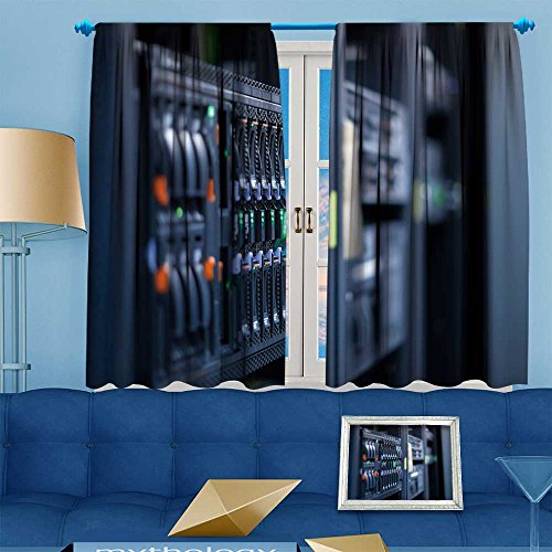 VROSELV Kids Room Planets Curtains (2 Panels),network servers in a data center shallow depth of field Thermal Insulated Blackout Curtains with Star Prints, 72