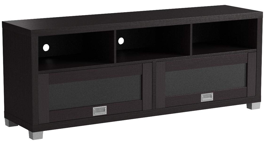 Baxton Studio Swindon Modern TV Stand with Glass Doors by Baxton Studio