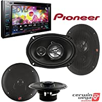 Pioneer AVH-290BT Multimedia DVD Receiver with 6.2 WVGA Display and Built-in Bluetooth + Cerwin-Vega XED62 300W 6.5 2-Way Coaxial Speakers + Cerwin-Vega XED693 350W 6 x 9 3-Way Coaxial Speakers