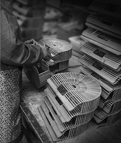 Bamboo Handbag Handmade Tote Bag Handle Bamboo Purse Straw Summer Beach Bag for Women (NBH-A01) by Noblesh (Image #6)
