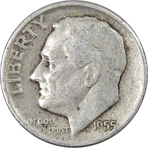1955-D 10c Roosevelt Silver Dime Average Circulated