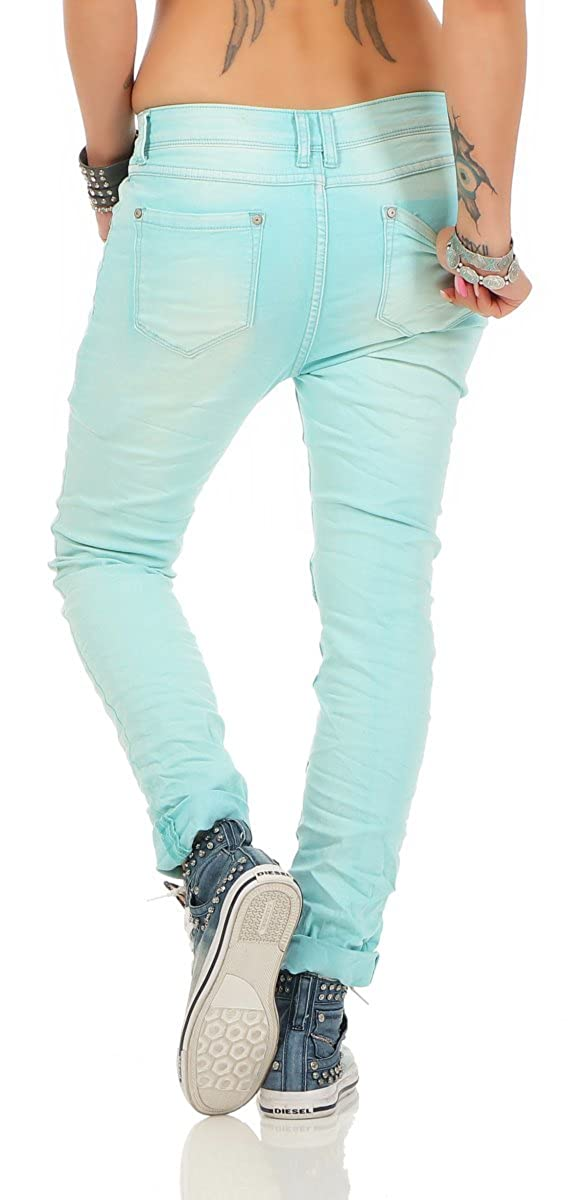 Turquoise M Taille Jeans Femme Fashion4young Empire ARLSc354jq