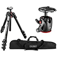 Manfrotto MT055CXPRO4 055 Carbon Fiber 4-Section Tripod Kit with MHXPRO-BHQ2 XPRO Magnesium Ball Head and a Calumet Heavy-Duty Padded Carry Case
