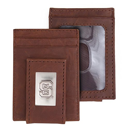 Eagles Wings NCSU NC State Wolfpack Wallet Front Pocket Leather Wallet ()