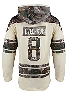 NHL Washington Capitals Alexander Ovechkin Men's Realtree Lacer Name & Number Hoodie, Medium, Multi Color
