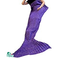 Hughapy Christmas Soft Mermaid Tail Blanket Handmade...