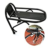 Tmalltide Cycling Bike Aluminum Alloy Front Rack Bracket Bicycle Carrier Pannier Racks