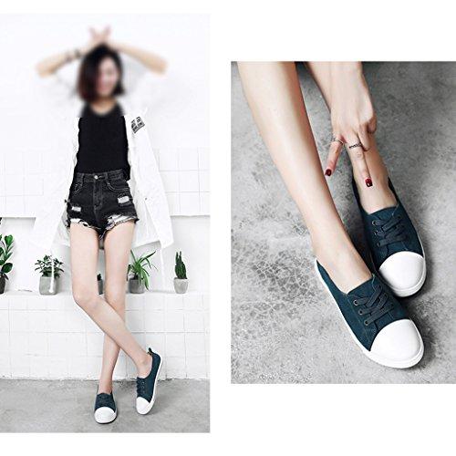 Mouth Colore Scarpe donna Marrone dimensioni 40 scarpe Scarpe Primavera donna da Shallow casual sportivo femminile HWF Blu Single piatto studente wqdZIZ