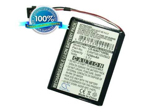 Battery2go Battery fit to Navman BP/LP1200/11/B0001 MX, BP/LP1230/11/A0001U - Navman Battery
