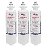 LG LT700P Refrigerator Water Filter, Standard, 3 Pack, White