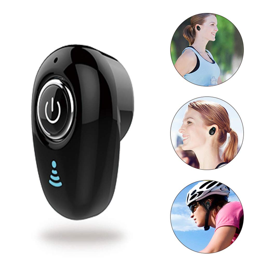 Negro Milnnare Mini Auriculares Inal/ámbricos Bluetooth Manos Libres Est/éreo In-Ear Headphones