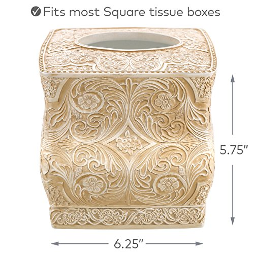 Decorative kleenex box covers : Creative scents square tissue holder decorative