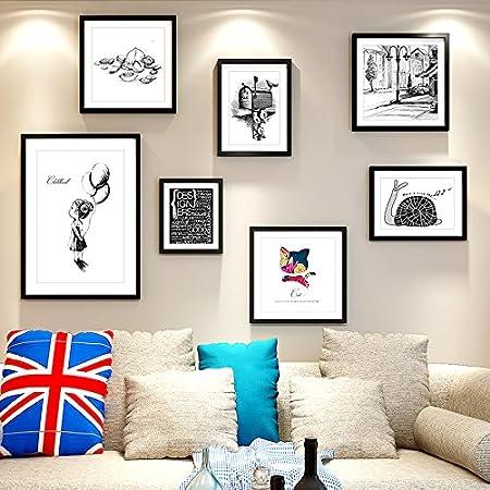 QPLA@poster frames/frame set wall hanging Picture Photo Frame Solid ...