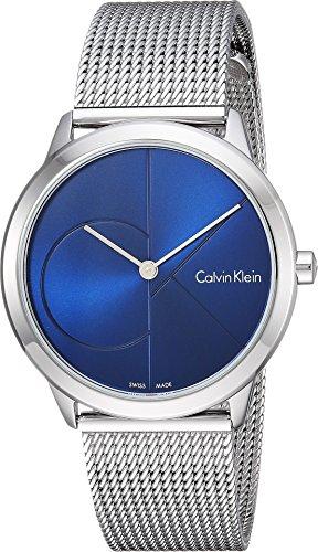 Calvin Klein Unisex Minimal Watch - K3M2212N Blue/Silver One Size (Calvin Watches Klein Women)