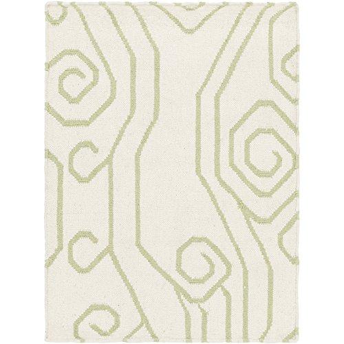 (Somerset Bay by Surya Boardwalk BDW-4006 Coastal Flatweave Hand Woven 100% Wool Lettuce Leaf 2' x 3' Accent Rug)