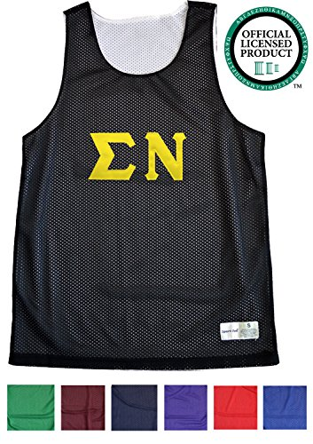 SIGMA NU Unisex Mesh Tank Top. Gold Sewn Letters, Various Colors