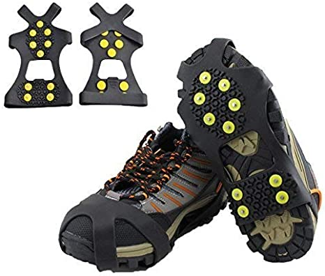 AA Deluxe Snow And Ice Grip Cleats Size 5-8 Medium Grip Gripper Over Shoe//Boot