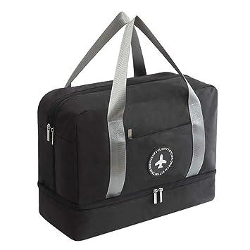 Young & Ming Impermeable Bolsa de Deporte con Compartimento para Zapatos Bolsa de Gimnasio Grande Bolsa de Viaje Bolsa Fin de Semana para ...