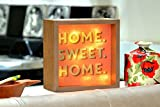 Home Sweet Home Light Up Mantel Plaque In Gift Box