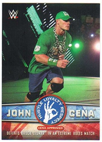 2017 Topps WWE Wrestling John Cena Tribute #29 Defeats Brock Lesnar in an Extreme Rules Match