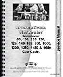 International Harvester Cub Cadet 1250 Lawn & Garden Tractor Service Manual (Chassis)
